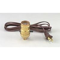 Push-Thru Socket W/8 Ft. Brown Cord, Push-Thru Socket w/8 foot Brown cord By B&P Lamp