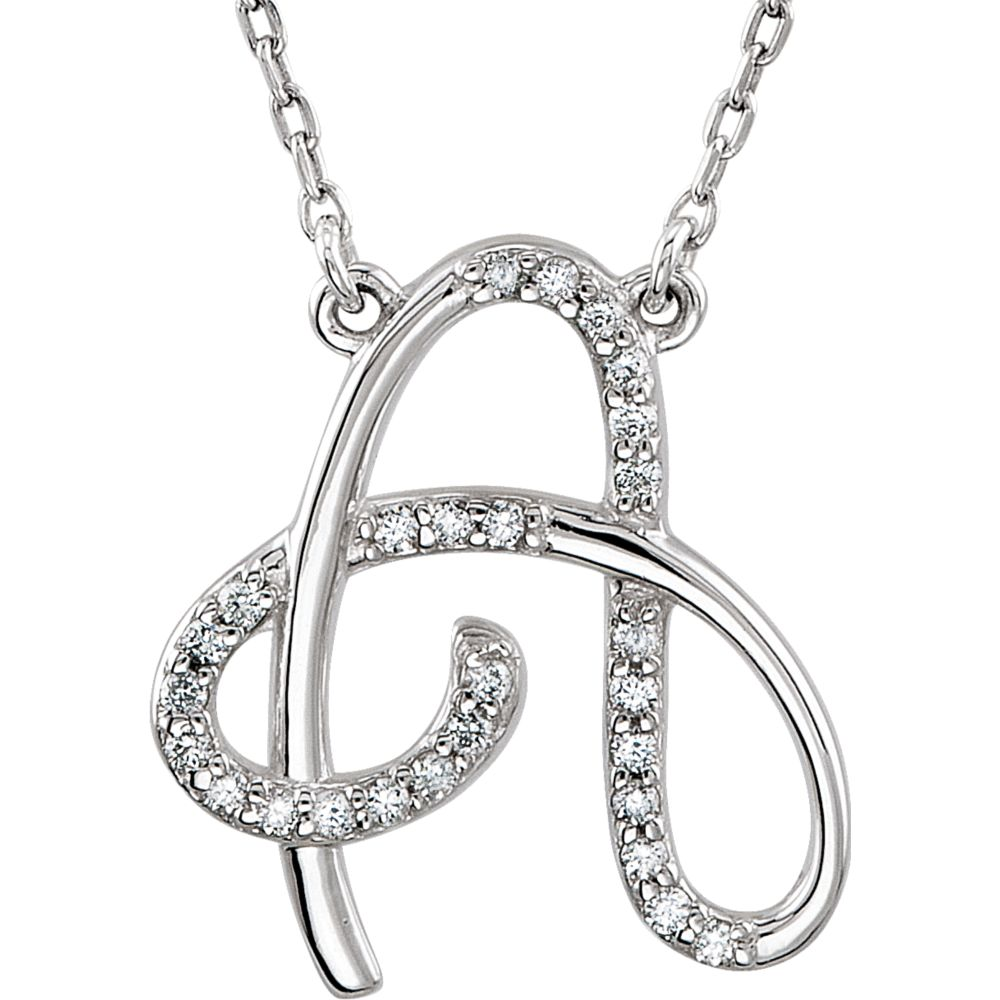 Jewels By Lux 925 Sterling Silver Mens Women Initial A Charm Pendant