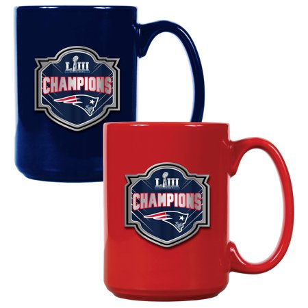 New England Patriots Super Bowl LIII Champions 15oz. Coffee Mug Set - No Size