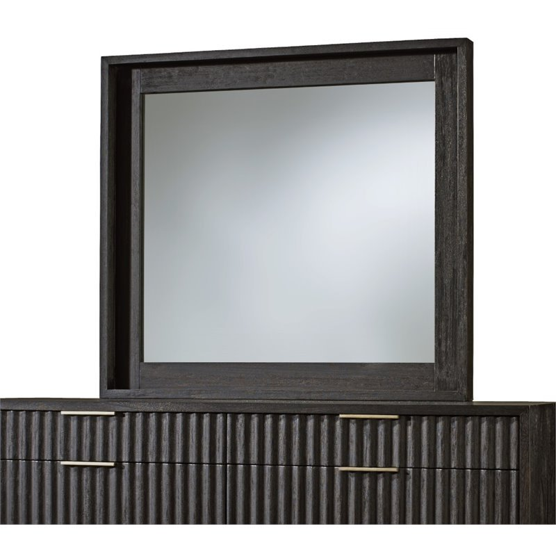 Modus Kentfield Beveled Glass Mirror in Transparent Black Mahogany by Modus Furniture