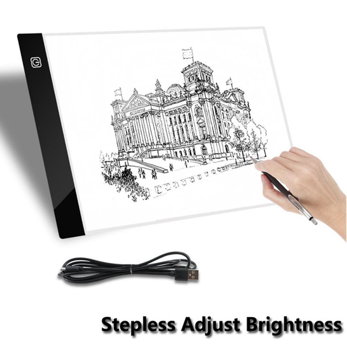 A4 LED Artist Art Stencil Board Light Box Tracing Drawing Board Pad Table
