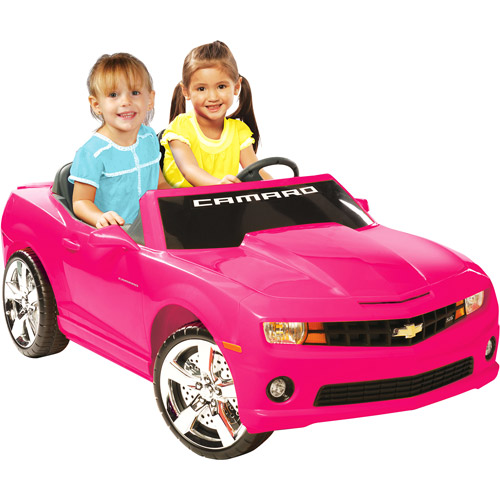 Kid Motorz Chevrolet Camaro 12-Volt Battery-Powered Ride-On, Pink