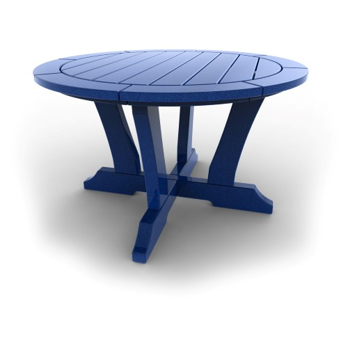 Round Patio Table by Malibu Outdoor - Laguna, Blue - 36''