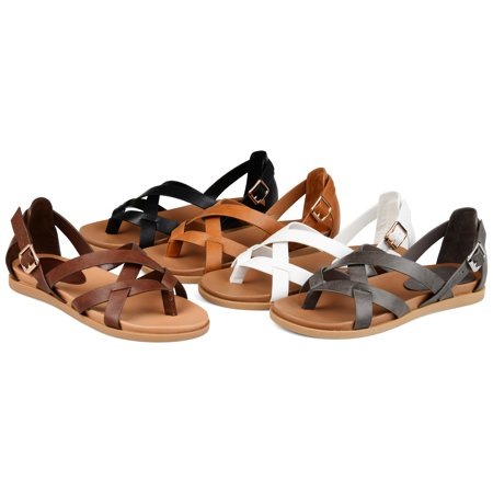 Brinley Co. Womens Cuffed Ankle Gladiator Sandal