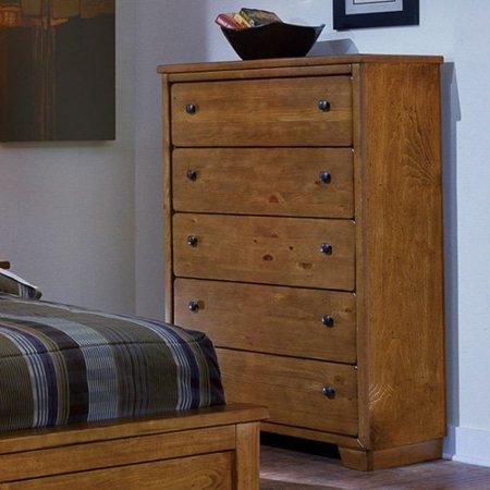 Progressive Furniture Diego 5 Drawer Chest - Cinnamon Pine ()