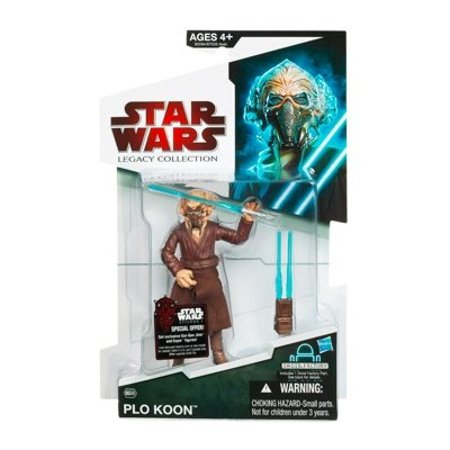 Star Wars 2009 Legacy Collection BuildADroid Action Figure Plo Koon with Removable Face - Plo Koon Star Wars
