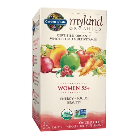 Garden of Life Mykind Organics Women 55+ One A Day Multivitamin Tablets, 30