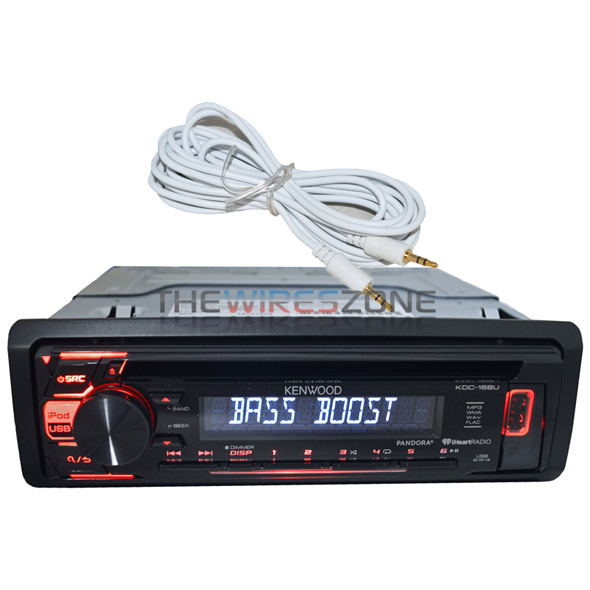Kenwood KDC-168U Car Stereo CD MP3 Pandora iPhone iPod Android USB AUX Receiver