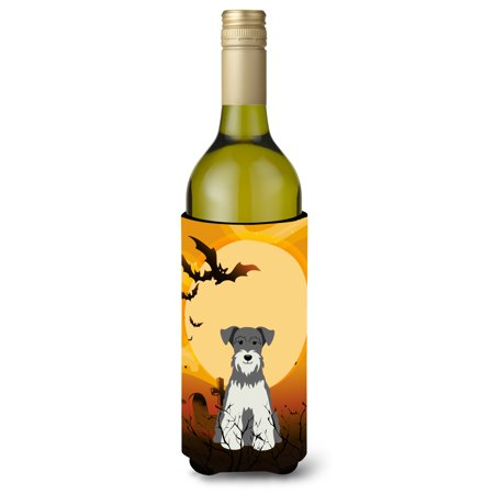 Halloween Miniature Schanuzer Salt and Pepper Wine Bottle Beverge Insulator Hugger BB4320LITERK - Salt And Pepper Dog Halloween Costumes