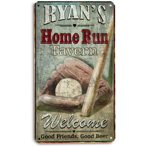 Personalized Home Run Tavern Sign