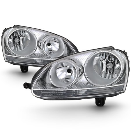 Fit 2006 2007 2008 2009 Volkswagen Jetta GTi Halogen Headlights Replacement