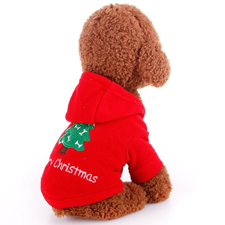 Warm Christmas Dog Coat Bright Red Puppy Jacket Autumn Winter Outdoor Pet Dog Clothes Windproof Animal Outer Wear - image 7 of 7