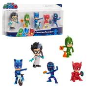 PJ Masks Collectible 5-Piece Figure Set,Catboy, Owlette, Gekko, Romeo, and Night Ninja