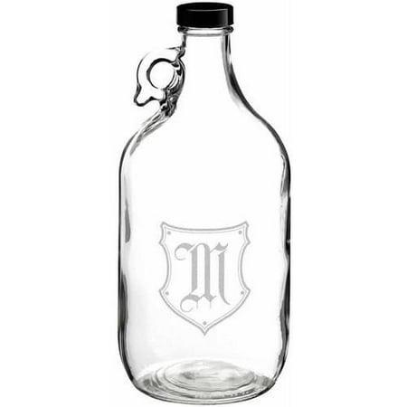 Lillian Rose Clear Glass Growler Monogram