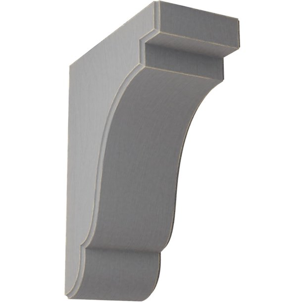 3 1 2 W X 7 1 4 D X 9 1 2 H Bedford Wood Vintage Decor Bracket Pebble Grey Walmart Com Walmart Com