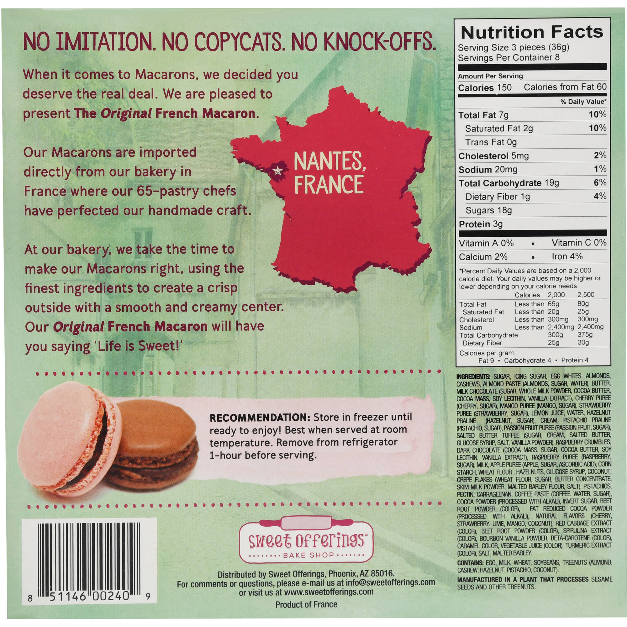 French Macarons Twelve Assorted Flavors, 24 ct