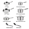 T-fal Expert Pro 12 Piece Stainless Steel Cookware Set