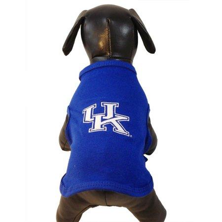 NCAA Kentucky Wildcats Collegiate Cotton Lycra Hooded Dog Shirt Blue XX-Small