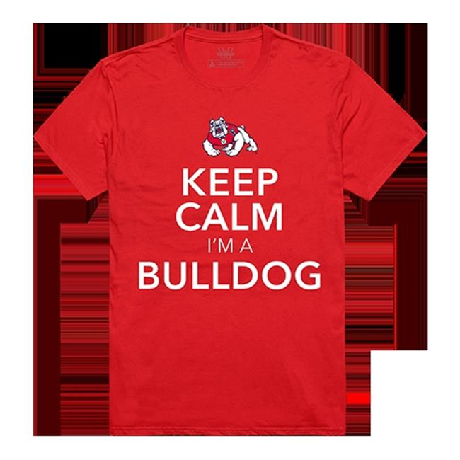 W Republic Apparel 523-169-R58-04 Keep Calm Tee, Fresno State, Red - Extra Large - image 1 de 1