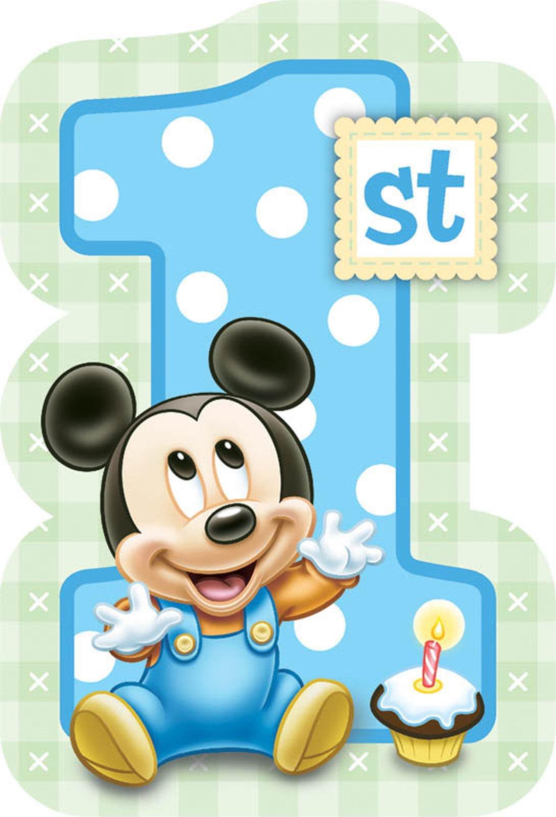 Disney mickeys 1st birthday invitations 8pk walmart filmwisefo Images