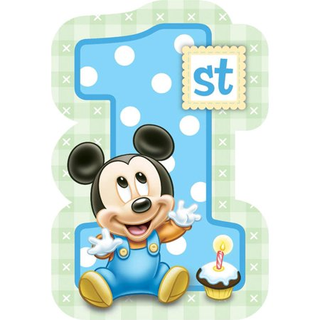 Disney Mickeys 1st Birthday Invitations