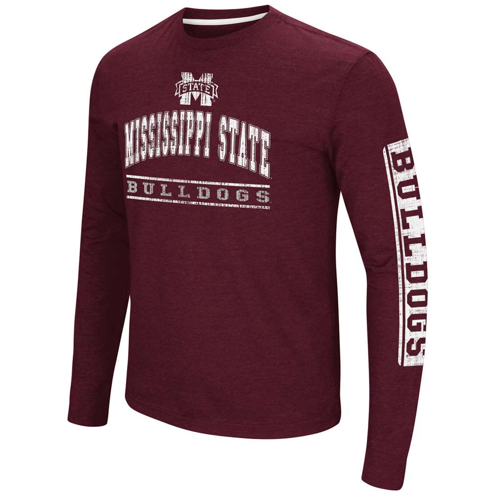 Mississippi State Bulldogs Colosseum Sky Box L/S T-Shirt - Arch Print
