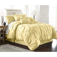 Chezmoi Collection Sydney 7-Piece Pintuck Pinch Pleat Comforter Set