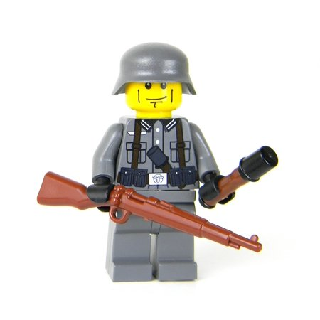 German Kar98 WW2 Soldier- Battle Brick Custom Minifigures