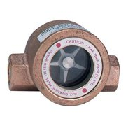 DWYER INSTRUMENTS SFI-100-1 Single Sight Flow Indicator,Bronze,1In