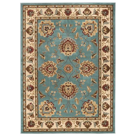 Well Woven Well Woven Vanguard Oriental Border Classic Traditional Floral Persian Thick Red  Black  And Light Blue Area Rug  53 X 73