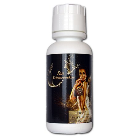 (Tampa Bay Tan, Tan Extraordinaire, Organic and 99.9 % Natural Botanical Blend Professional HVLP Spray tan Solution, 10 % Med to Med Dark Skin – 8 oz)