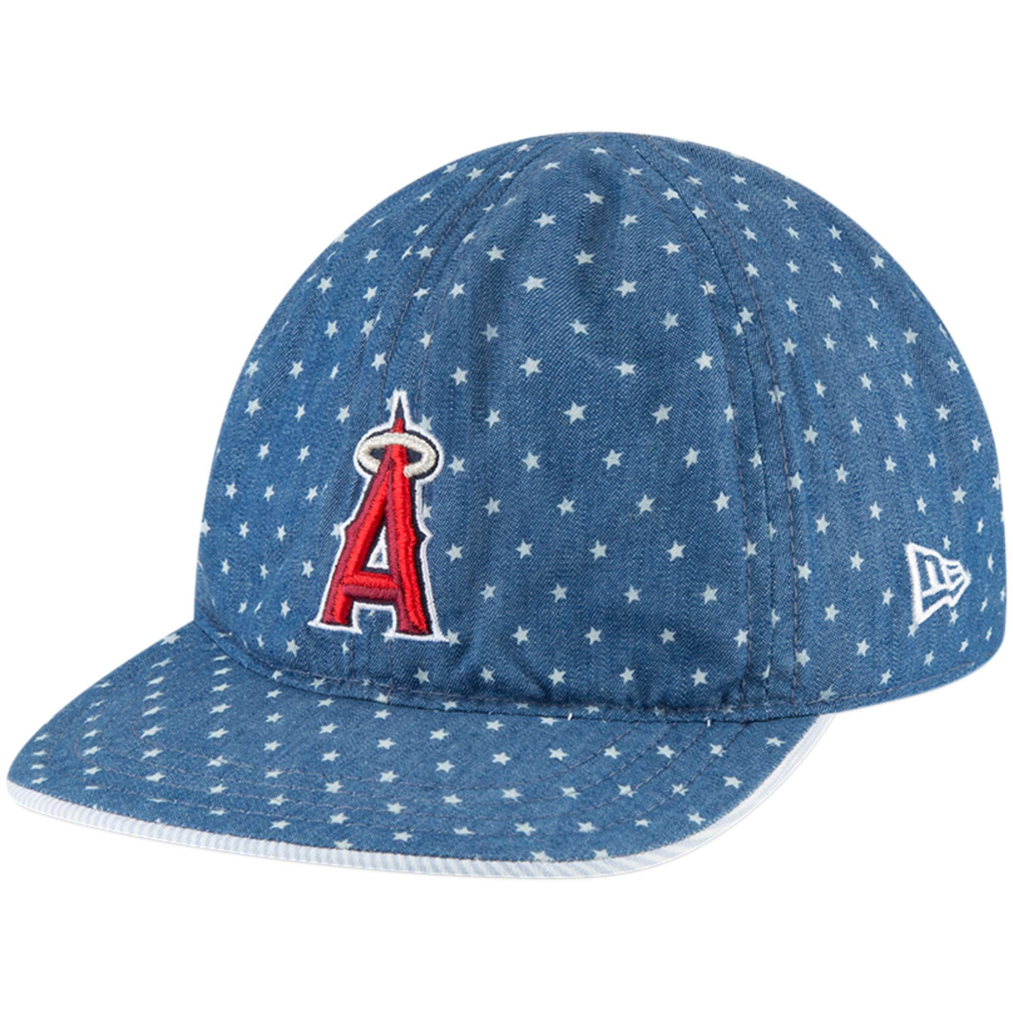 Los Angeles Angels New Era Infant Flip 9TWENTY Adjustable Hat - Denim/White - OSFA