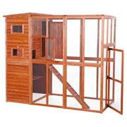 Trixie Pet Products, 6-Platform Cat Enclosure, Outdoor Cat House, Wooden, 76-in