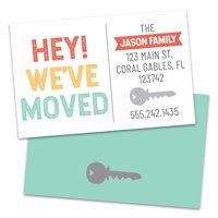 Personalized Hey We've Moved Moving Announcement