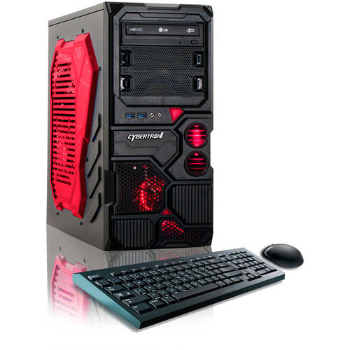 CybertronPC Borg Q - 750 Desktop PC with AMD FX - 4130 Quad - Core Processor, 8GB Memory, 1TB Hard Drive and Windows 10 (Monitor Not Included)