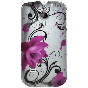 Huawei Case, Rubberized Protector Back Case Slim Designed Snap On Cover for Huawei Summit U8651, Huawei Prism U8651, Huawei Ascend II M865 - Pink Lotus