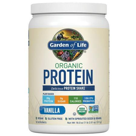 Garden of Life Organic Protein Powder, Vanilla, 1.1