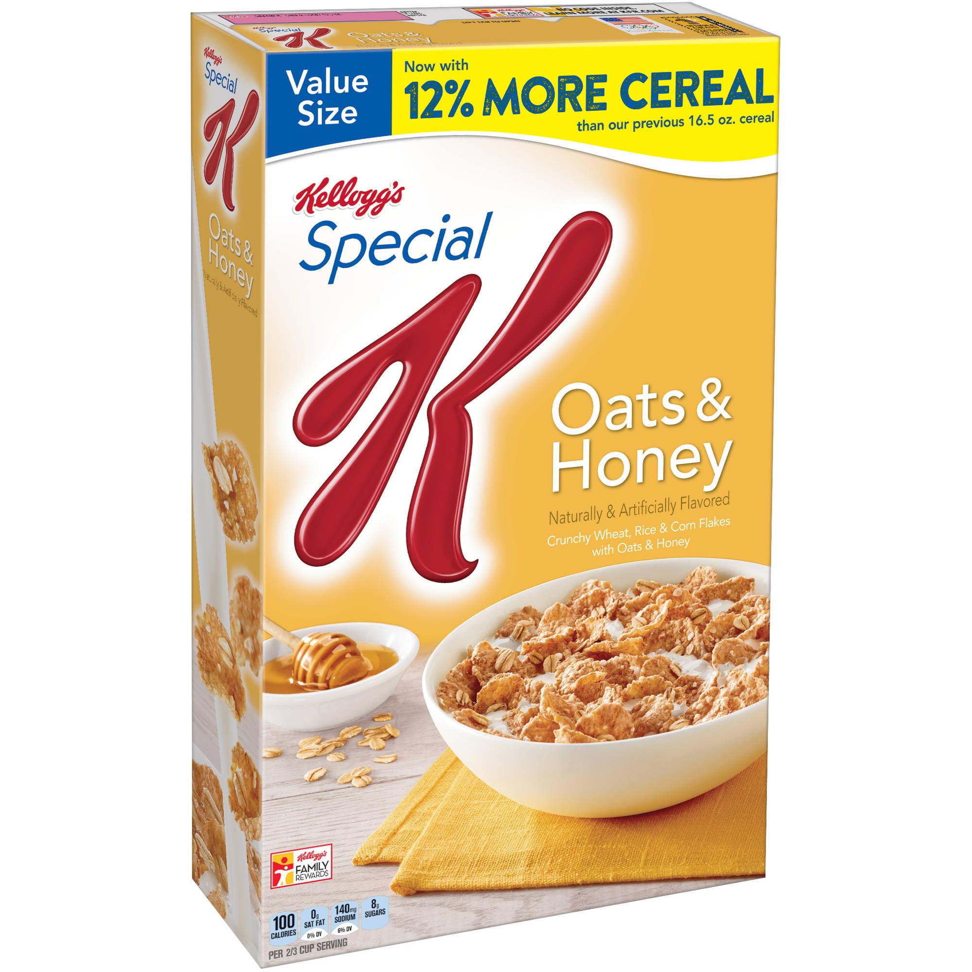 Kellogg's Special K Oats & Honey Cereal, 18.5 ounce box