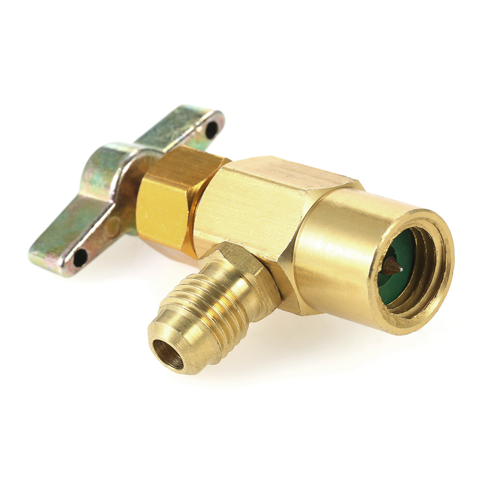 Big-Autoparts R-134a R-134 AC DV-134 Brass CAN TAP Dispensing Valve 1//2 ACME