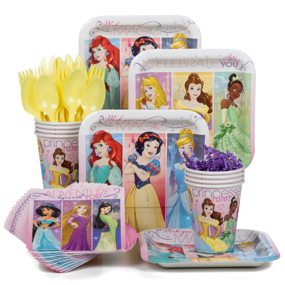 Disney Princess Party Standard Tableware Kit Serves 8