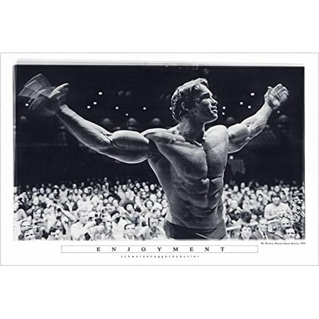 Enjoyment - Arnold Schwarzenegger Mr Olympia Madison Square Garden 36x24 Photograph Art Print Poster Pumping Iron