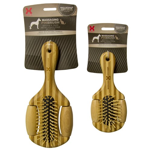 Hugs Pet Products Massaging Pet Pin Brush - Small Massaging Pet Pin Brush