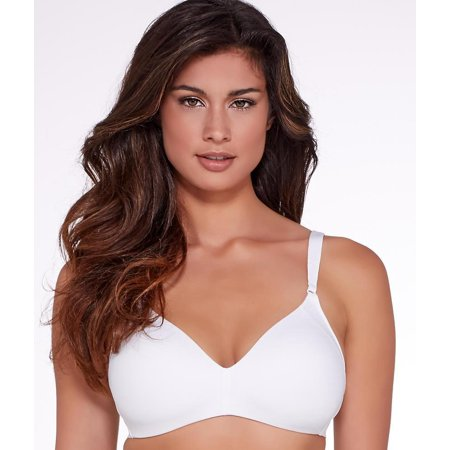 warner's women's cloud 9 wire free lift bra, white, 38b