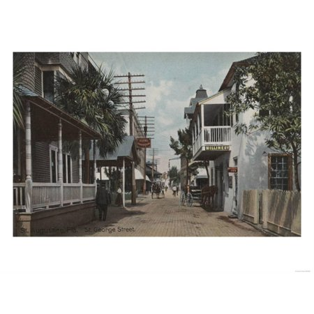 St. Augustine, Florida - View of St. George St. No.1 Print Wall Art By Lantern Press