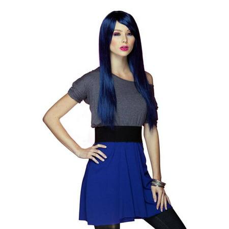 Elegante Womens Divine Midnite Blue Wig