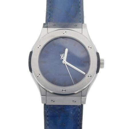 Pre-Owned Hublot Watch Classic Fushion Berluti Blue Limited Edition 511.NX.050B.VR.BER16 (15 Month WatchBox (5.11 Watch)