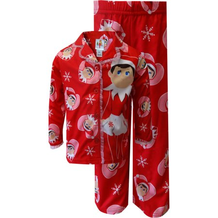 I Love My Elf on the Shelf Snowflake Red Holiday Pajamas