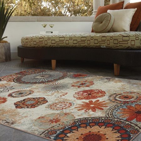 Mohawk Home Alexa Medallion Indoor/Outdoor Nylon Rug, Multi ...