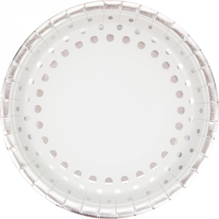 Creative Converting Sparkle And Shine Silver Foil Paper Plates, 8 ct
