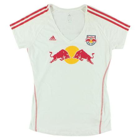 Adidas Womens New York Red Bulls MLS Club T Shirt White